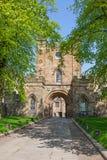 Durham Castle Gates Stock Photo