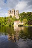 Durham Cathedral and River Wear. Durham Cathedral and the River Wear, Durham City, County Durham, England Stock Photos
