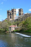 Durham Cathedral. View of Durham Cathedral from river bank, UK. Photo taken April 2015 Stock Images