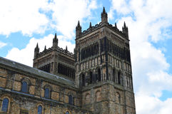 Durham Cathedral. View of Durham Cathedral towers from the main green. Photo taken April 2015 Stock Image