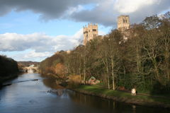 Durham Cathedral on Wear Stock Photo