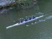 DURHAM, CONDADO DURHAM/UK - 19 DE ENERO: Visión a lo largo del río Wea Foto de archivo