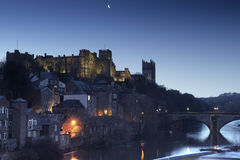 Durham an der Dämmerung Lizenzfreie Stockfotografie