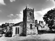Durham för kyrka för St Margaret ` s stad UK 12th århundrade Arkivfoton