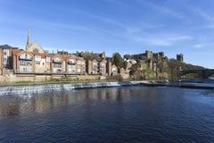 Durham flodstrand arkivbild