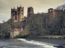 Durham katedra i folowanie młyn Obraz Stock