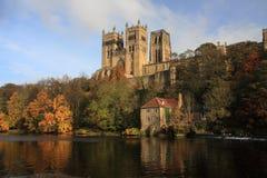 Durham katedralni odbicia Zdjęcie Royalty Free