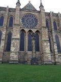 Durham-Kathedrale - Rose Window Stockfoto