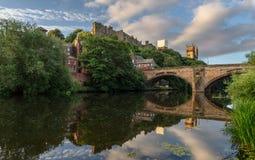 Durham-Kathedralen-Fluss-Abnutzung England Großbritannien Lizenzfreie Stockbilder