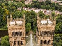 Durham-Kathedralen-Türme Lizenzfreies Stockfoto