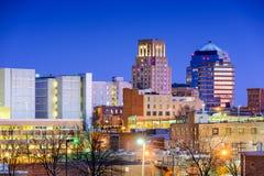 Durham norr Carolina Skyline Royaltyfri Bild