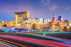 Durham, North Carolina, USA. Downtown city skyline Stock Photography
