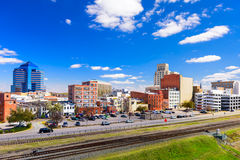 Durham North Carolina. Durham, North Carolina, USA downtown cityscape Royalty Free Stock Photography