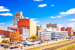 Durham, North Carolina, USA. Downtown cityscape royalty free stock photos
