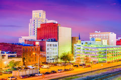 Durham, North Carolina, USA. Downtown skyline at twilight royalty free stock images