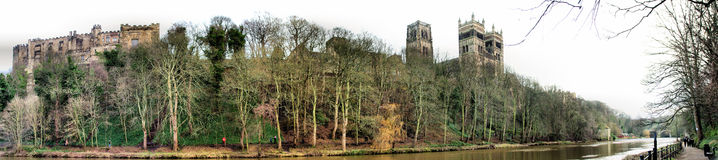 Durham Riverside Panorama Royalty Free Stock Photo
