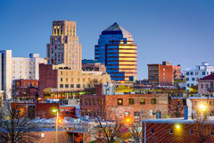 Durham Skyline. Durham, North Carolina, USA downtown skyline royalty free stock image