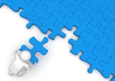 Duri la parte del puzzle Fotografia Stock Libera da Diritti