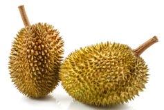 Durian που απομονώνεται στο λευκό στοκ εικόνες