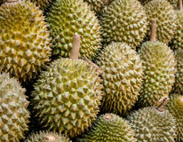 Durian. At a market in Singapore Stock Photo