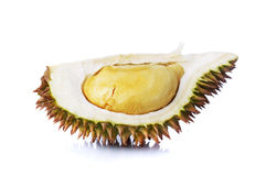 Durian. A durians piece isolated on white background Royalty Free Stock Image