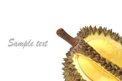 Durian. From thailand on white background Royalty Free Stock Images