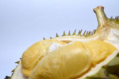 Durian. King of fruits in Asia countries and to many the smell is a distinctive odour, that is so strong and penetrating even when the husk is intact. Like it or Stock Photo