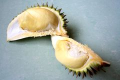 Durian. The king of fruits on display royalty free stock photo