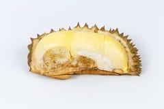 Durian auf weißem Hintergrund Stockfotos