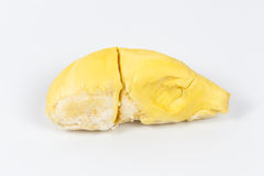 Durian auf weißem Hintergrund Stockfoto