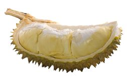 Durian cortado isolado fotos de stock royalty free