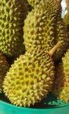 Durian in de mand royalty-vrije stock fotografie