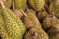 Durian in de markt Royalty-vrije Stock Fotografie