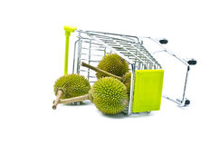 Durian dropped from trolley Stock Images