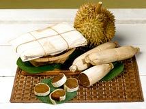 Durian e frutta conservata del durian Fotografia Stock Libera da Diritti