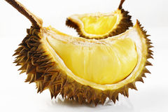 Durian en blanco Imágenes de archivo libres de regalías