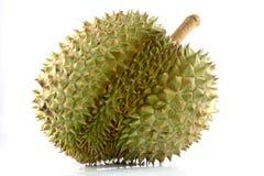 Durian en el fondo blanco. Fotografía de archivo