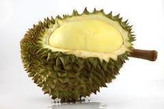 Durian en el fondo blanco. Fotos de archivo libres de regalías