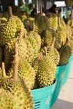 Durian en la cesta Fotografía de archivo