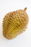Durian entier simple sur le fond blanc photos libres de droits