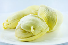 Durian flesh Stock Images