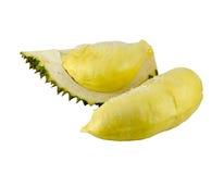 Durian flesh. On white background Royalty Free Stock Image