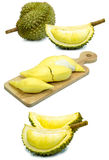 Durian fruit isolated on a white background durain king fruit of Thailand. Photo of durian fruit isolated on a white background durain is king of fruit in Royalty Free Stock Image