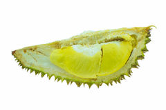Durian fruit isolated on white background, Fresh fruit from orchard, King of fruit from Thailand Stock Photos