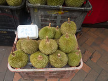 Durian fruit loved and hated, Singapore Royalty Free Stock Photography