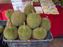 Durian fruit loved and hated, Singapore Royalty Free Stock Photo