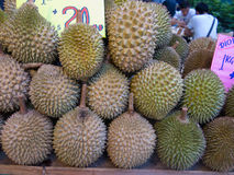 Durian fruit loved and hated, Singapore Stock Photo