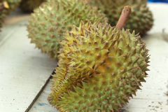 Durian fruit in the market Stock Photo