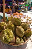 Durian Fruit On A Market Stock Images