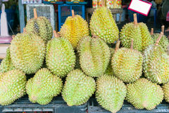 Durian , fruit in the market of thailand. Durian , A fruit in the market of thailand Royalty Free Stock Images